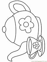 Teapot Coloring Printable Pages sketch template