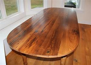 Wormy Chestnut Oval Table - Reclaimed Wood