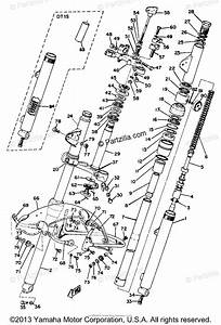 Yamaha Motorcycle 1969 Oem Parts Diagram For Front Fork