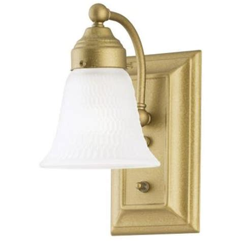 westinghouse 1 light goldenrod interior wall fixture with