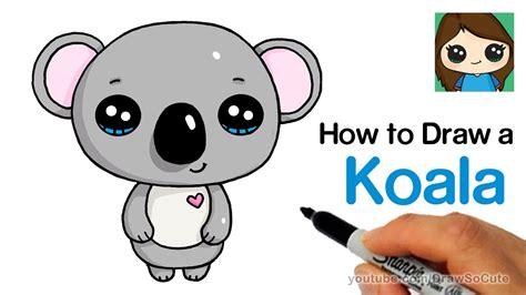 How Draw Koala Super Easy Cute Youtube