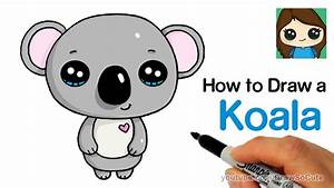 How to Draw a Koala Super Easy and Cute - YouTube