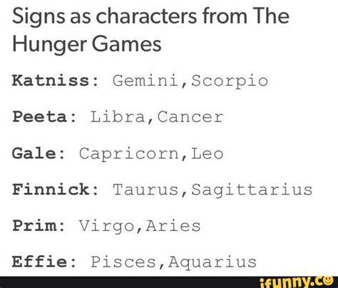what does the hunger sign zodiac signs hunger games image 4286674 by winterkiss