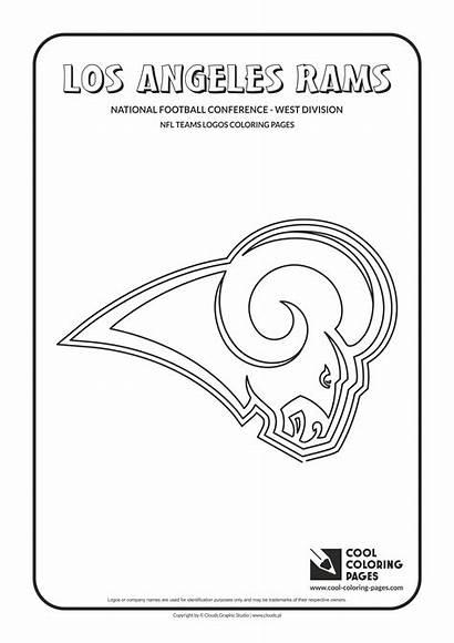 Coloring Rams Nfl Pages Football Logos Los
