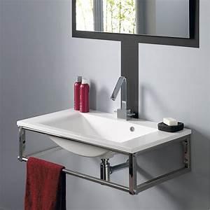 affordable meuble sous evier cuisine brico depot vasque With salle de bain design avec vasque haute