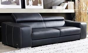 comment acheter un canape cuir noir pas cher canape show With canapé cuir noir pas cher