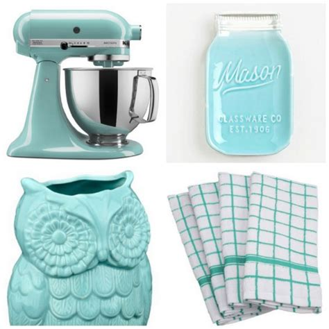 aqua kitchen accessories add a pop of color to your kitchen with aqua kitchen 1325