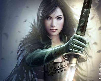 Fantasy Wallpapers Desktop Warrior Female Woman Warriors