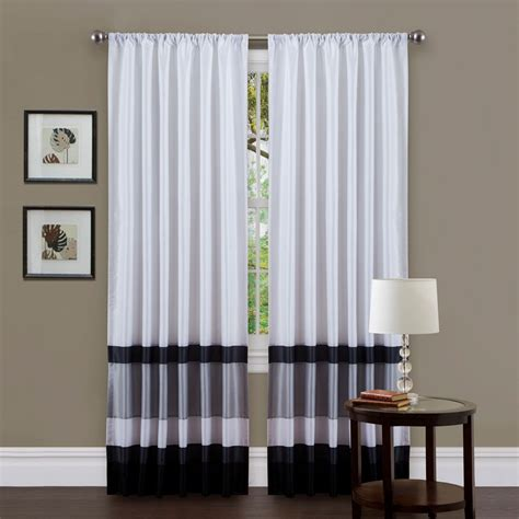 Black And Curtain Panels by Black White Curtains Seasonal Sale Ease Bedding With Style