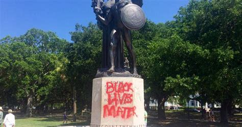 states  confederate statues defaced  wake