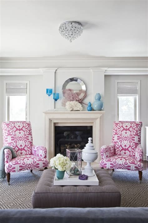 pink living room furniture pink ikat chairs contemporary living room benjamin