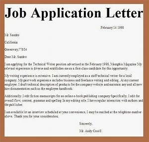 applications letter application pinterest With how to write a simple cover letter for a job