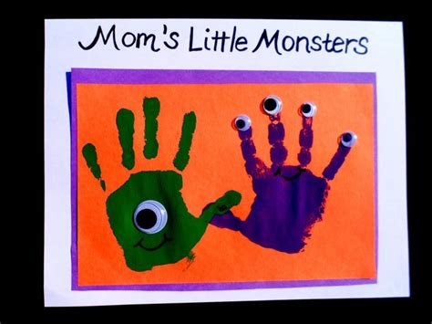 57 best baby handprint amp footprint crafts images on 608 | 80cba12efbd5620e5619d5b55143489c easy halloween crafts preschool halloween