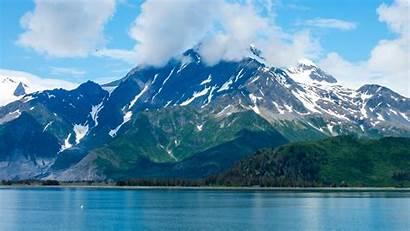 Alaska Background Mountains Kenai Fjords Lake Sky