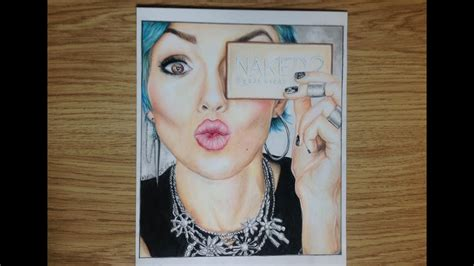 speed drawing  kandee johnson youtuber drawing youtube