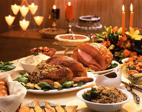 wood dinner table thanksgiving dinner photograph by vance fox
