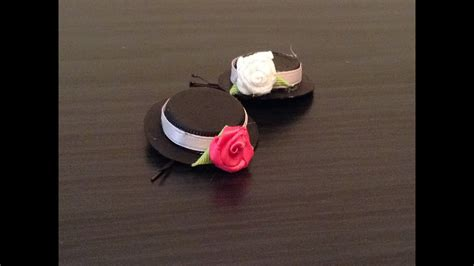 diy tiny hat bobby pin recycle youtube