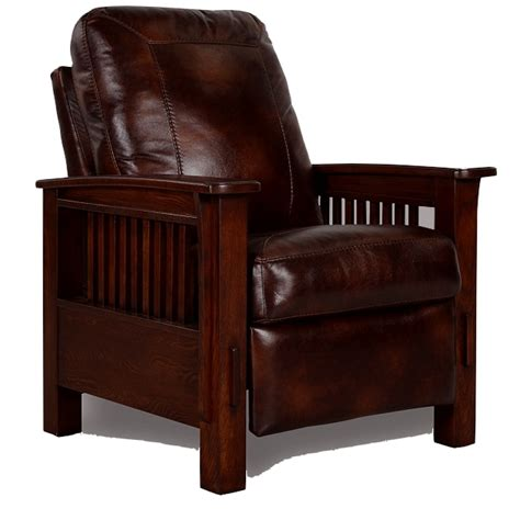 mission leather chair mission furniture living room