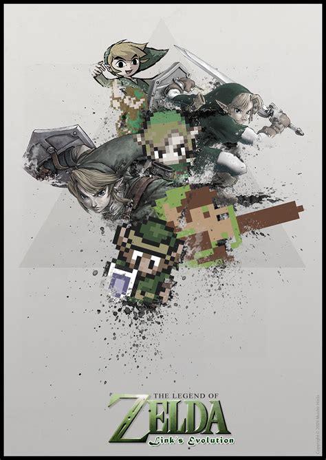 Geek Art Legend Of Zelda Links Evolution — Geektyrant