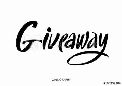 Giveaway Banner Contests Calligraphy Lettering Brush Ink
