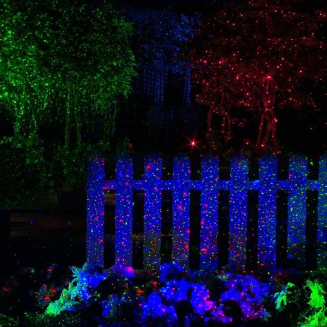 2x Rgb Led Dynamic Firefly Laser Projector Light Outdoor