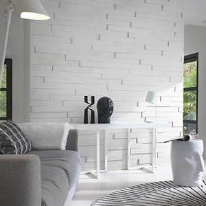 Parement Bois Adhesif : lambris bois blanc auto adhesif idea bois nicolas ~ Premium-room.com Idées de Décoration