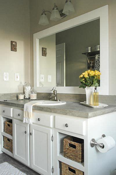 Builder Grade Bathroom Mirror by 9 Easy Updates To A Builder Grade Bathroom Bath