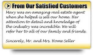Real Estate Agent Testimonial Examples