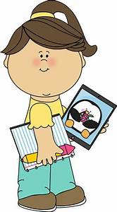 Cute Girl Student Clipart - Clipart Suggest