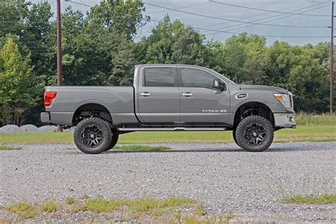 nissan titan xd lifted 6in suspension lift kit for 16 17 4wd nissan titan xd