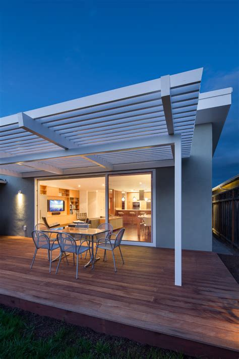 wooden patio covers deck midcentury with architectural