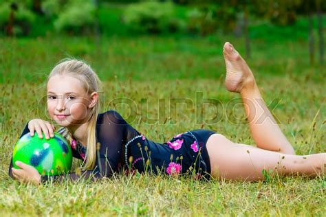 Outdoor Portrait Of Young Cute Little Stock Image Colourbox