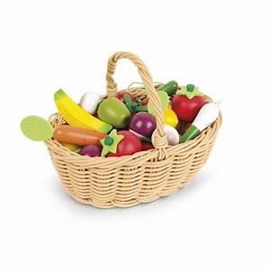 Panier A Fruit : panier fruits et l gumes jouet en bois cuisine janod ~ Teatrodelosmanantiales.com Idées de Décoration