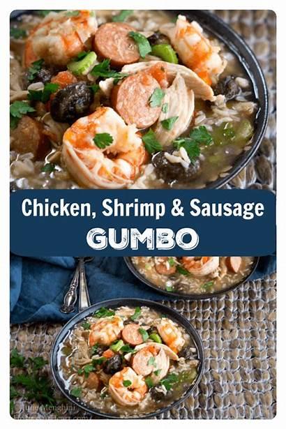 Gumbo Sausage Shrimp Chicken Recipe Spicy Bowl