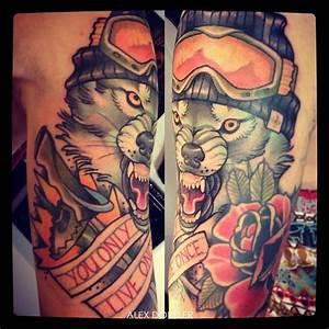 Tatouage Loup Celtique : tatouage loup avec un bonnet et des lunettes de ski inkage ~ Farleysfitness.com Idées de Décoration