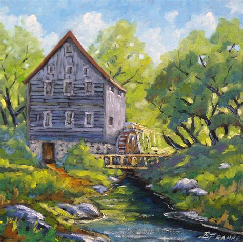 watermill painting by richard t pranke
