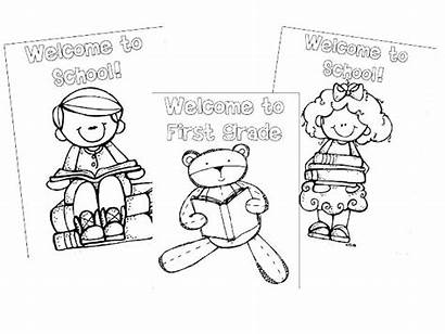 Grade Coloring Pages 1st Welcome Second 2nd
