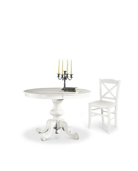 tavolo rotondo bianco allungabile tavolo rotondo allungabile in legno col bianco opaco