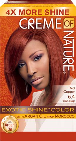 red copper exotic shine hair color creme  nature