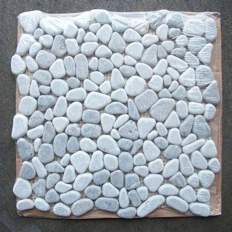 river rock tile lagos azul mix river rocks pebble mosaic tile