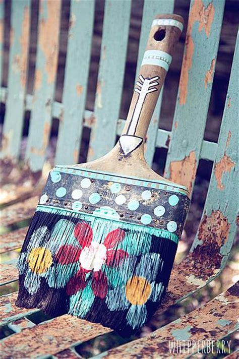 decoart blog crafts rustic paint brush artwork