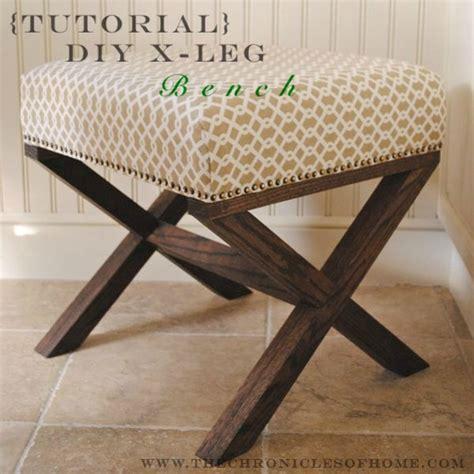how to upholster an ottoman how to make an x leg ottoman curbly diy design decor