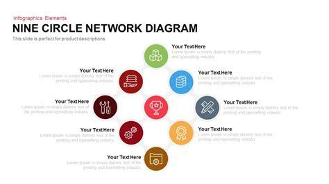 circle network diagram powerpoint keynote slidebazaar