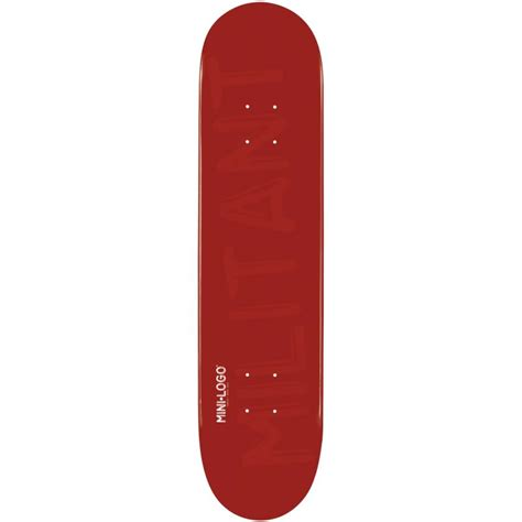 mini logo skateboards deck militant 8 0 buy online
