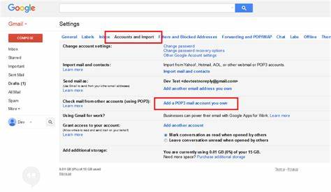 Account Purple A Gmail Address send and receive in gmail