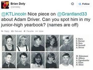 junior high school yearbooks 39 adam driver looks adorably geeky in school yearbook