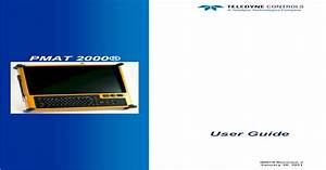 Users Guide Pmat 2000