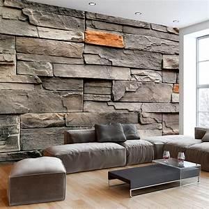 Mauer Wand Wohnzimmer : vlies fototapete 3 farben zur auswahl tapeten steine ~ Lizthompson.info Haus und Dekorationen