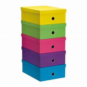 Boite Rangement Carton : bo te de rangement carton fast fun couleurs assorties maxiburo ~ Teatrodelosmanantiales.com Idées de Décoration