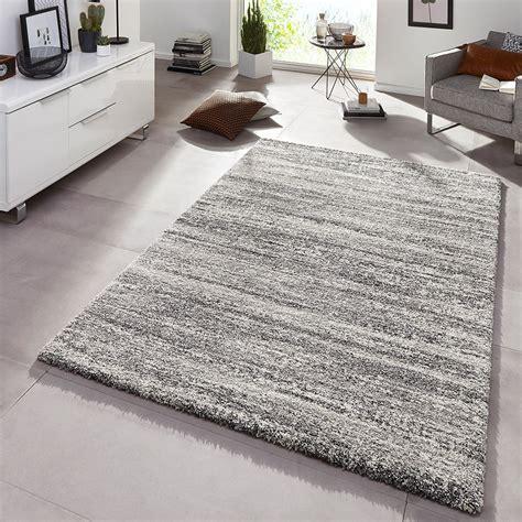 Und Teppich by Design Teppich Hochflor Langflor Granite Grau Meliert